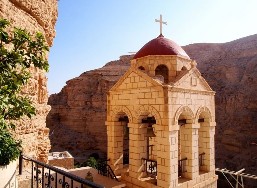 Monastery of Temptation, Jericho in Palestine by Carla Ribeiro