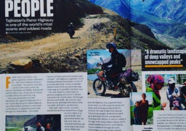 tajikistans off road biking advertised in a magazine