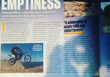 inside pages of an off road biking magazine