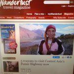 wanderlust magazine advertising the pamir highway