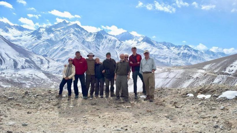 Group on Khargush Pass Tajikistan