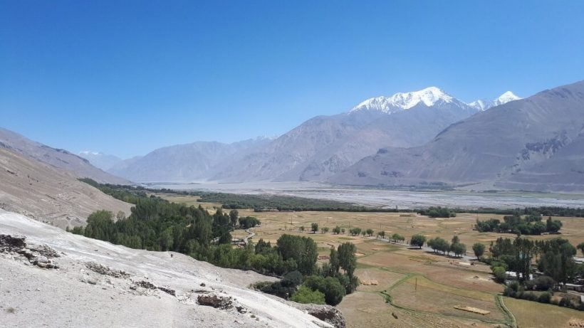 View from Vrang Stupa