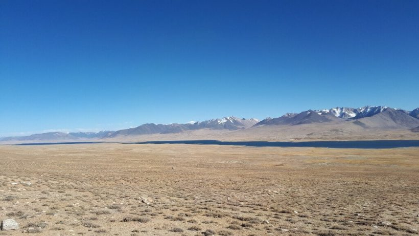 View to Lake Zorkul and Great Pamir Range